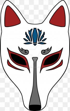 Anonymous Mask - Kitsune Mask Drawing Logo PNG