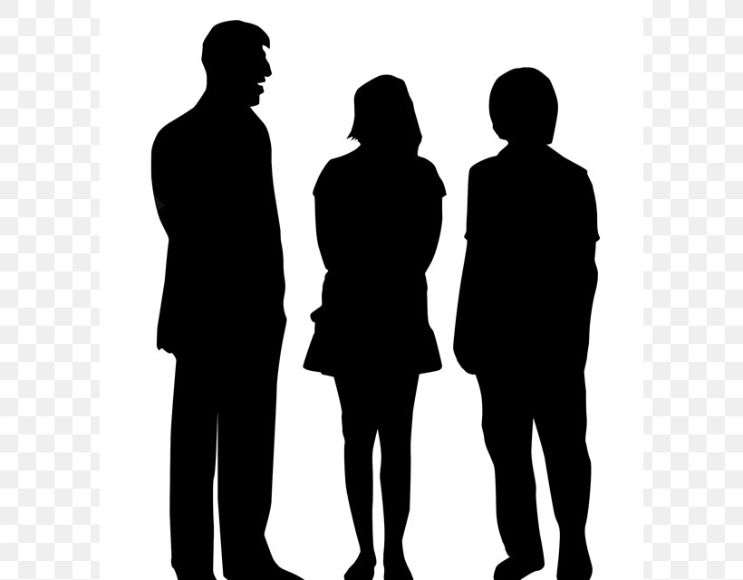 Silhouette People Photography Clip Art, PNG, 600x641px, Silhouette, Black And White, Business, Communication, Conversation Download Free