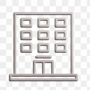 Metal Town Icon - Building Icon Hotel Services Icon Town Icon PNG