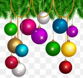 Christmas Decoration Transparent Clip Art Image - Christmas Decoration Santa Claus Christmas Ornament Clip Art PNG
