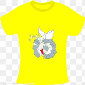 Yellow T-shirt - T-shirt Yellow Clothing Sleeve White PNG