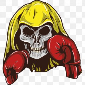 Boxing - Boxing Glove Skull Clip Art Image PNG