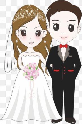 Cartoon Wedding - Bridegroom Wedding Illustration PNG