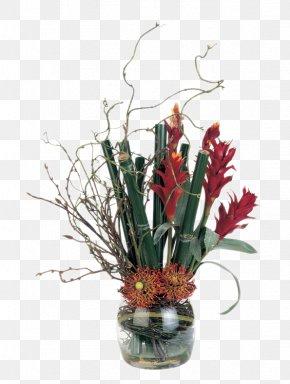 Red Flower Vase Decorated Soft Furnishings Installed - Floral Design Vase Artificial Flower Plant PNG