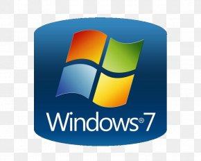 Windows Logos - Windows 7 Sticker Computer Software Microsoft PNG