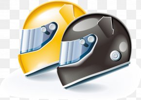 Yellow-brown Helmet - Auto Racing Icon PNG