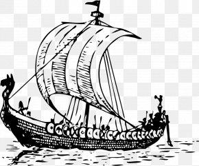 Ship Outline - Viking Ships Clip Art PNG