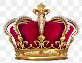 Red Gold Crown With Pearls Clipart Picture - Crown Of Queen Elizabeth The Queen Mother King Clip Art PNG