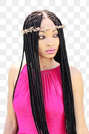Braid Wig Hairstyle Long Hair PNG