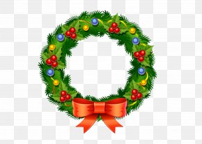 Christmas Circle - Santa Claus Christmas Decoration Wreath Child PNG