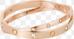 Jewellery - Bangle Love Bracelet Cartier Jewellery PNG