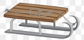 Winter Sled Clip Art Image - Coffee Table Angle PNG