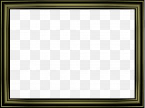 Black Border Frame Transparent Image - Chess Square Area Picture Frame Pattern PNG