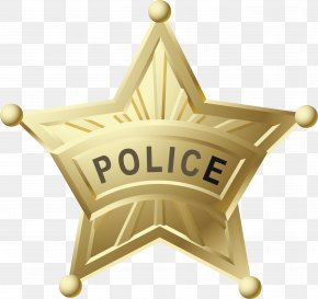 The Metal Star Badge. - Police Officer Badge Star PNG
