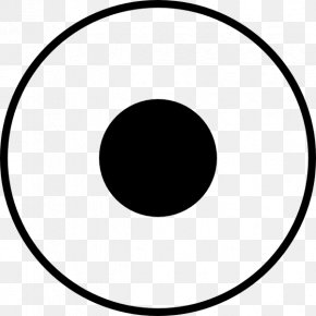 Circle Dots Cliparts - Circle Area White Black Font PNG
