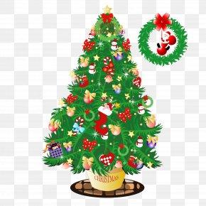 Cartoon Christmas Tree - Santa Claus Christmas Tree Email Outlook.com PNG