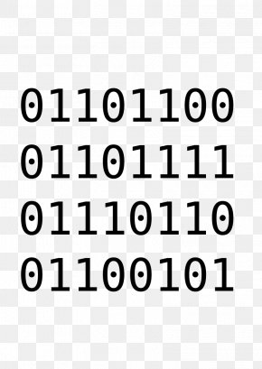 Lovely Text - Binary Code Binary File Binary Number Clip Art PNG