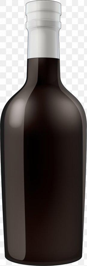 Black Painted Glass Bottle - Wine Glass Bottle Liqueur PNG