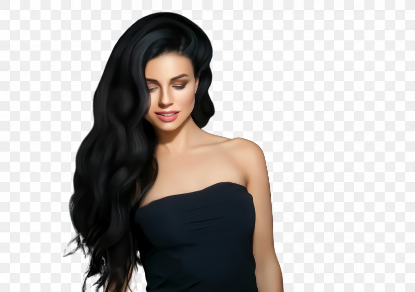 Hair Clothing Black Hair Hairstyle Long Hair, PNG ...