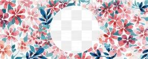 Watercolor Flowers - Watercolor Painting Adobe Illustrator PNG
