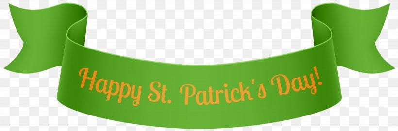 Saint Patrick's Day Web Banner Clip Art, PNG, 8000x2638px, Saint Patrick S Day, Banner, Brand, Clover, Grass Download Free
