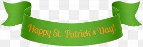 St Patrick's Day Banner PNG Clip Art - Saint Patrick's Day Web Banner Clip Art PNG