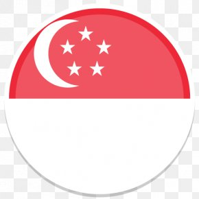 Round - Flag Of Singapore Flags Of The World PNG
