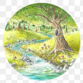 Babble Border - Clip Art Image Watercolor Painting Adobe Illustrator PNG