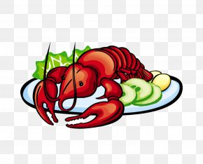 Lobster Pot - Lobster Seafood Cartoon Palinurus Elephas PNG