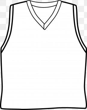 Plain Basketball Cliparts - Sleeve Basketball Uniform Jersey Clip Art PNG