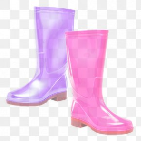 Material Property Lilac - Footwear Pink Boot Rain Boot Violet PNG