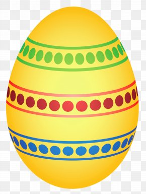 Yellow Colorful Dotted Easter Egg Clipairt Picture - Easter Egg Clip Art PNG