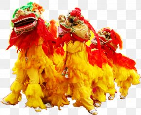 Yellow Lion Dance Team - Lion Dance Chinese New Year Festival PNG