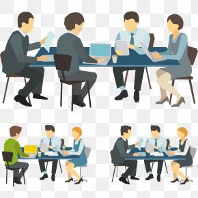 Vector Business People - Meeting Royalty-free Illustration PNG