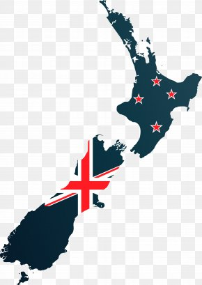 New Zealand Map On The Flag - Flag Of New Zealand Map Stock Photography Illustration PNG