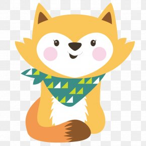 Animals Small Fox - Cartoon Fox PNG