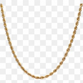 Necklace - Necklace Rope Chain Jewellery Gold PNG