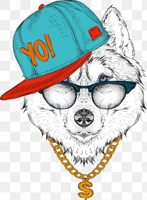 Pop Music, Illustration, Pop - Siberian Husky Drawing Royalty-free Illustration PNG