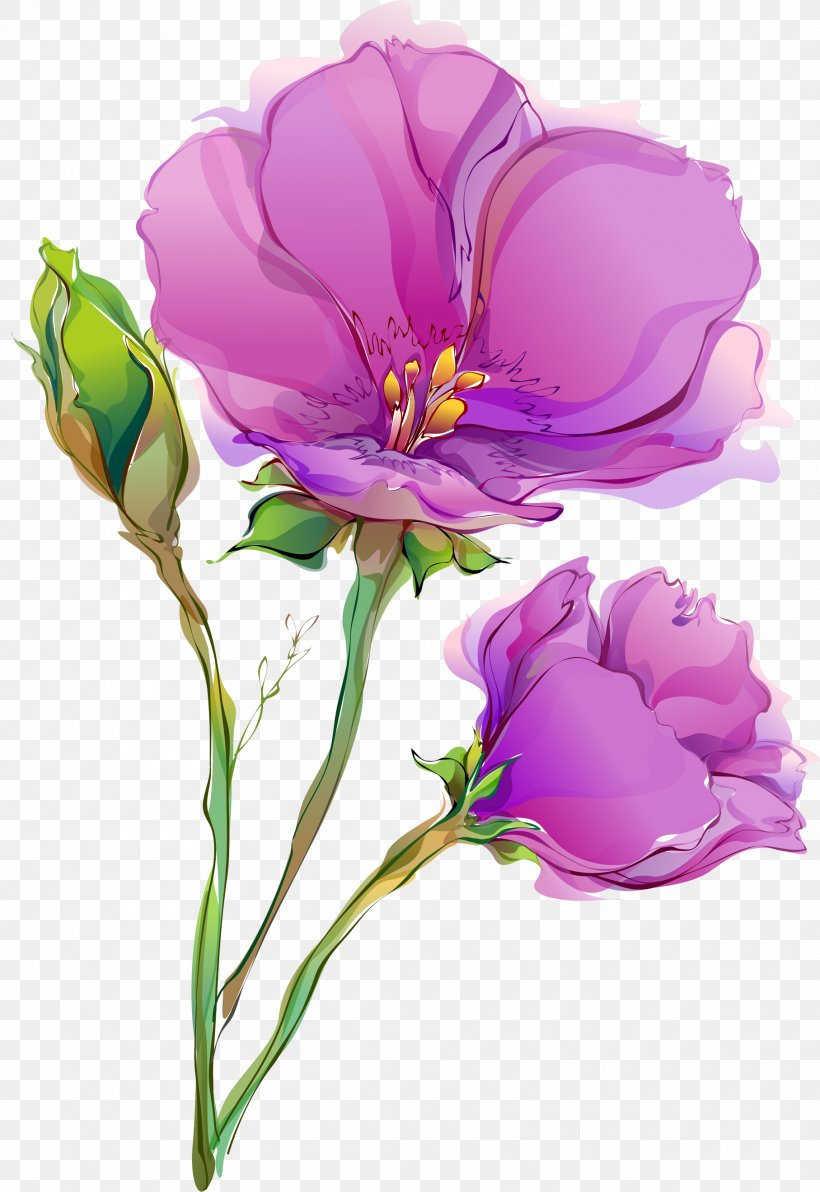 Flower Paper Painting Floral Design Wallpaper Png 1815x2640px