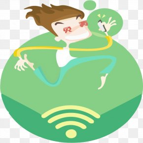 Green WIFI - Wi-Fi Icon PNG
