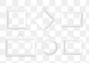 Silver Baby Photo Frame - Black And White Square Area Pattern PNG