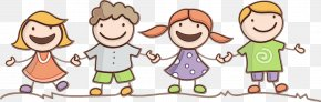 Smile Pleased - Cartoon Sharing Child Playing With Kids Happy PNG