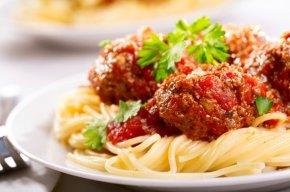 Shrimps - Pasta Salad Spaghetti With Meatballs Italian Cuisine Garlic Bread PNG