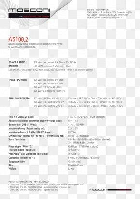 Mos Di Mosconi Ivan - Amplificador Watt Power Ohm Amplifier PNG
