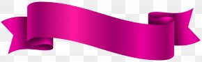 Pink Banner Transparent Clip Art Image - Product Design Ribbon Graphics PNG