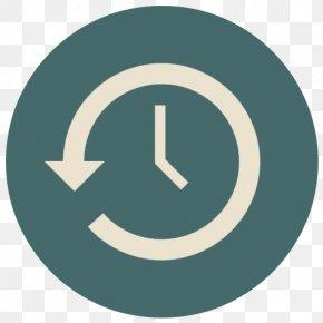 Time Machine - Trademark Symbol Aqua PNG