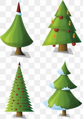 Christmas Tree - Santa Claus Christmas Tree Clip Art PNG