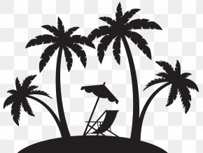 Palms And Beach Chair Silhouette Clip Art - California State University, Long Beach Los Angeles White House Black Market The Center Long Beach PNG