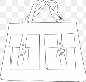 Tote Cliparts - Paper Line Art Black And White Pattern PNG