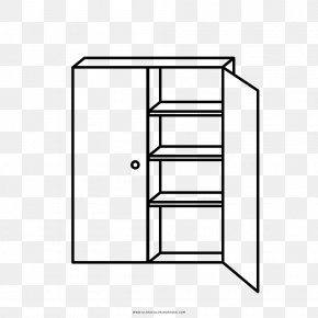 Closet - Shelf Drawing Armoires & Wardrobes Coloring Book PNG